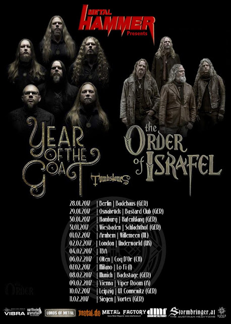 Doom Metal Front presents: YEAR OF THE GOAT & THE ORDER OF ISRAFEL European Tour 2017, supported by TOMBSTONES #tourdates #doommetalfront