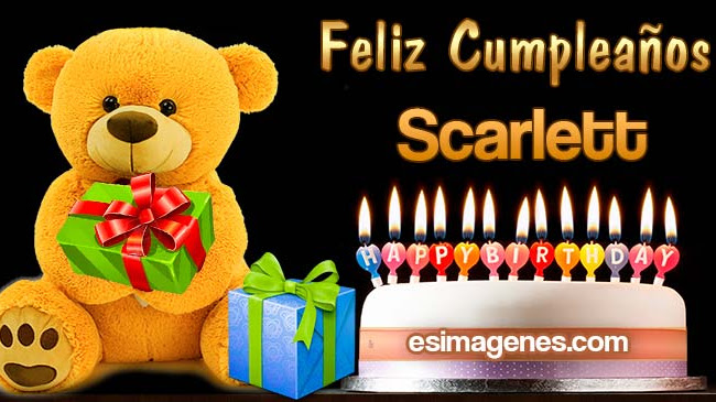 Feliz Cumpleaños Scarlett