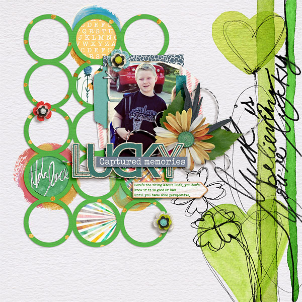 A March themed Digital Scrapbook Page by Judie