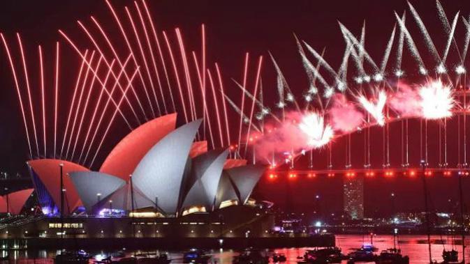 Pesta kembang api malam tahun baru 2019 di Sydney, Australia. (Foto: AFF PHOTO)