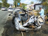 Взрыв легкового автомобиля