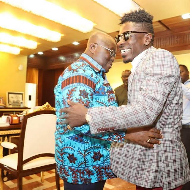 Shatta Wale visits President Nana Addo Dankwa Akufo-Addo at the Flagstaff House
