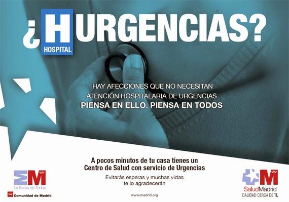 Panfleto informativo sobre el buen uso de urgencias