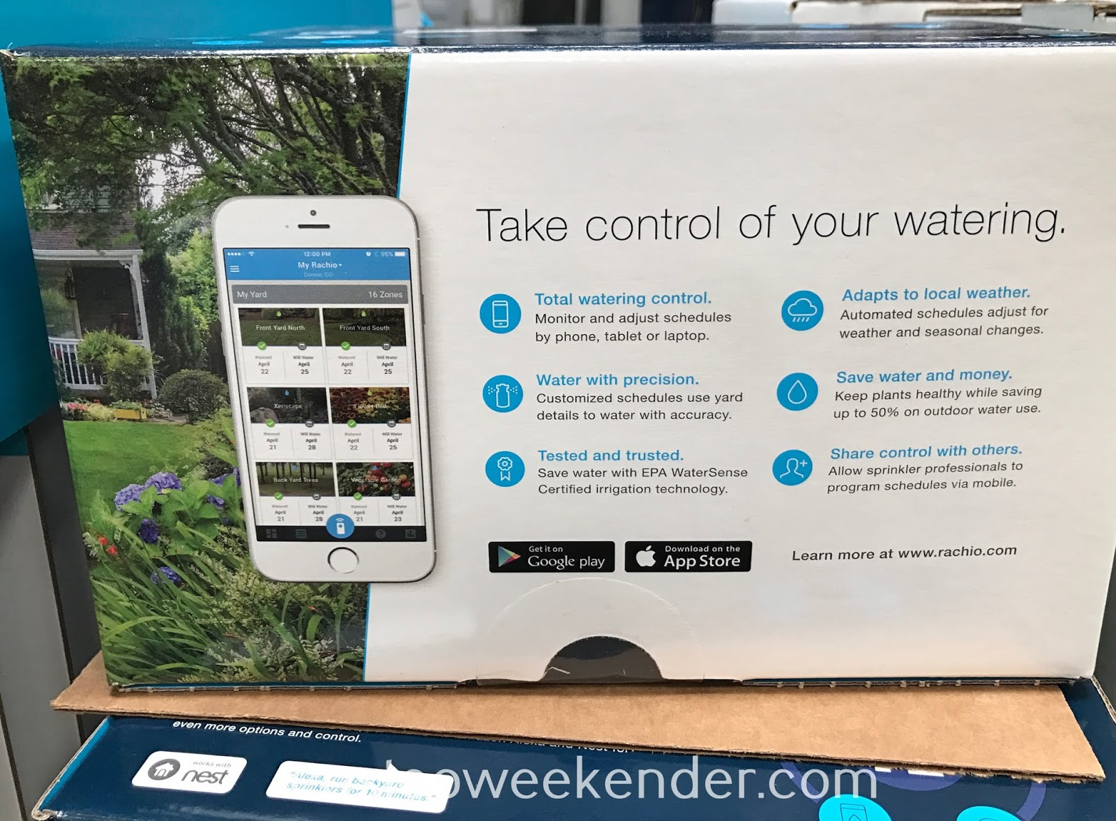 Costco 1245466 - Rachio Smart Sprinkler Controller: saves money and more effective than traditional timers