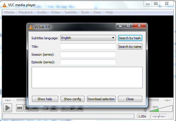 vlc download subtitles server not responding