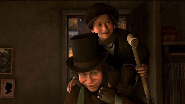 Cratchit Tiny Tim A Christmas Carol 2009 animatedfilmreviews.blogspot.com