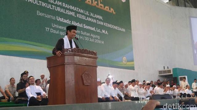 Ustadz Abdul Somad: Pengajian di Semarang Disambut Bagai Cawapres