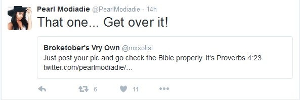 Did Pearl Modiadie Just Tweet A Nonexistent Bible Verse