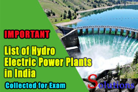 List of Hydro electric Power plants in India