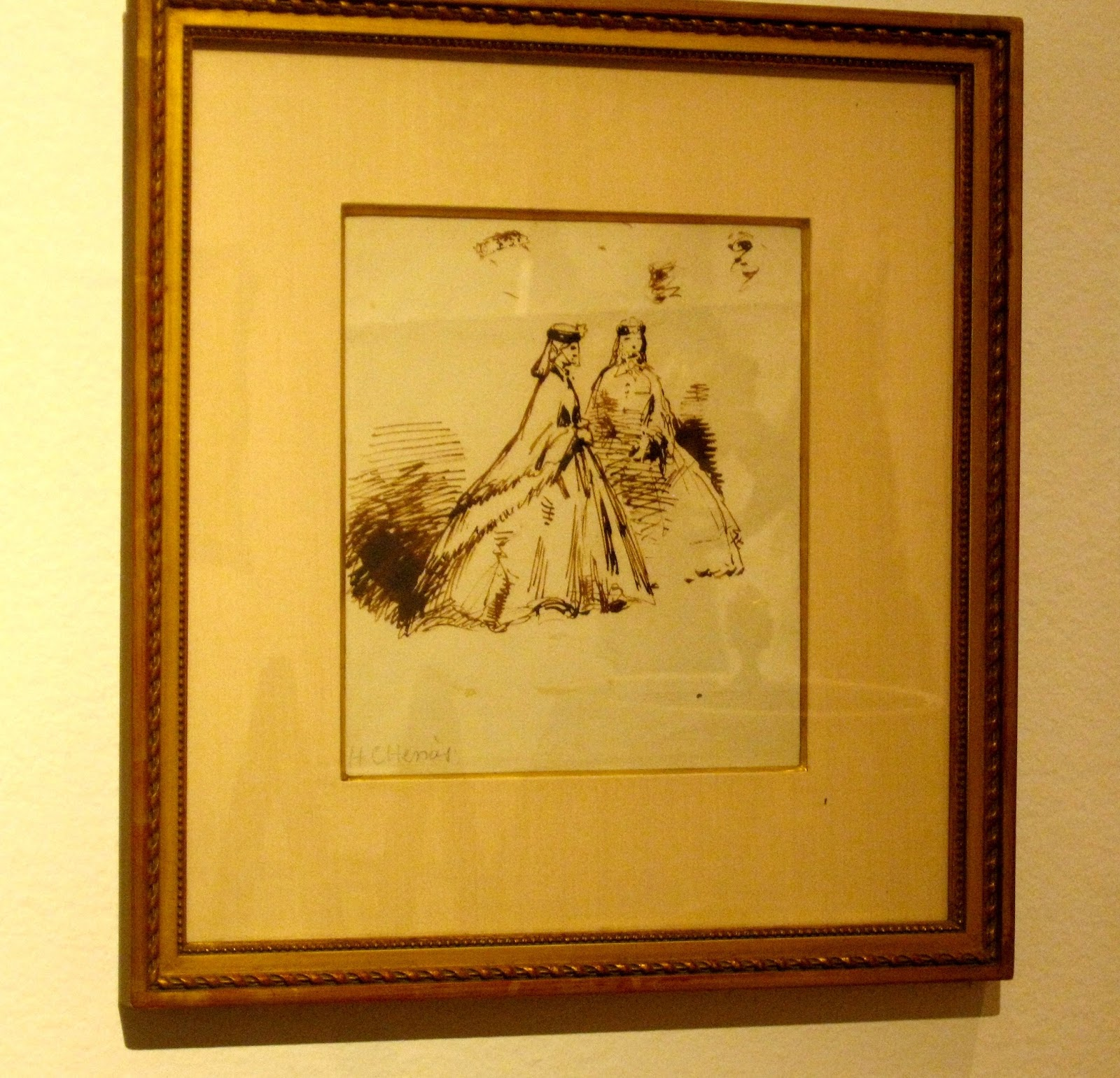 Joan Rivers' Private Collection 19th Century Two Elegant Women Unknown Artist [photo/edit by sookietex]