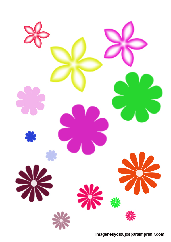 flores para imprimir y recortar | Imagenes y dibujos para imprimir