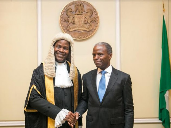 VP Osinbajo Attends His Brother's Conferment As SAN