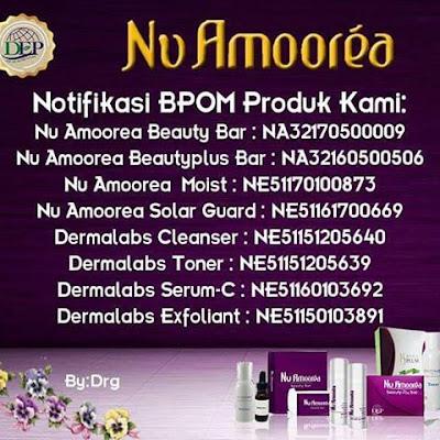 Nomor BPOM Sabun Amoorea