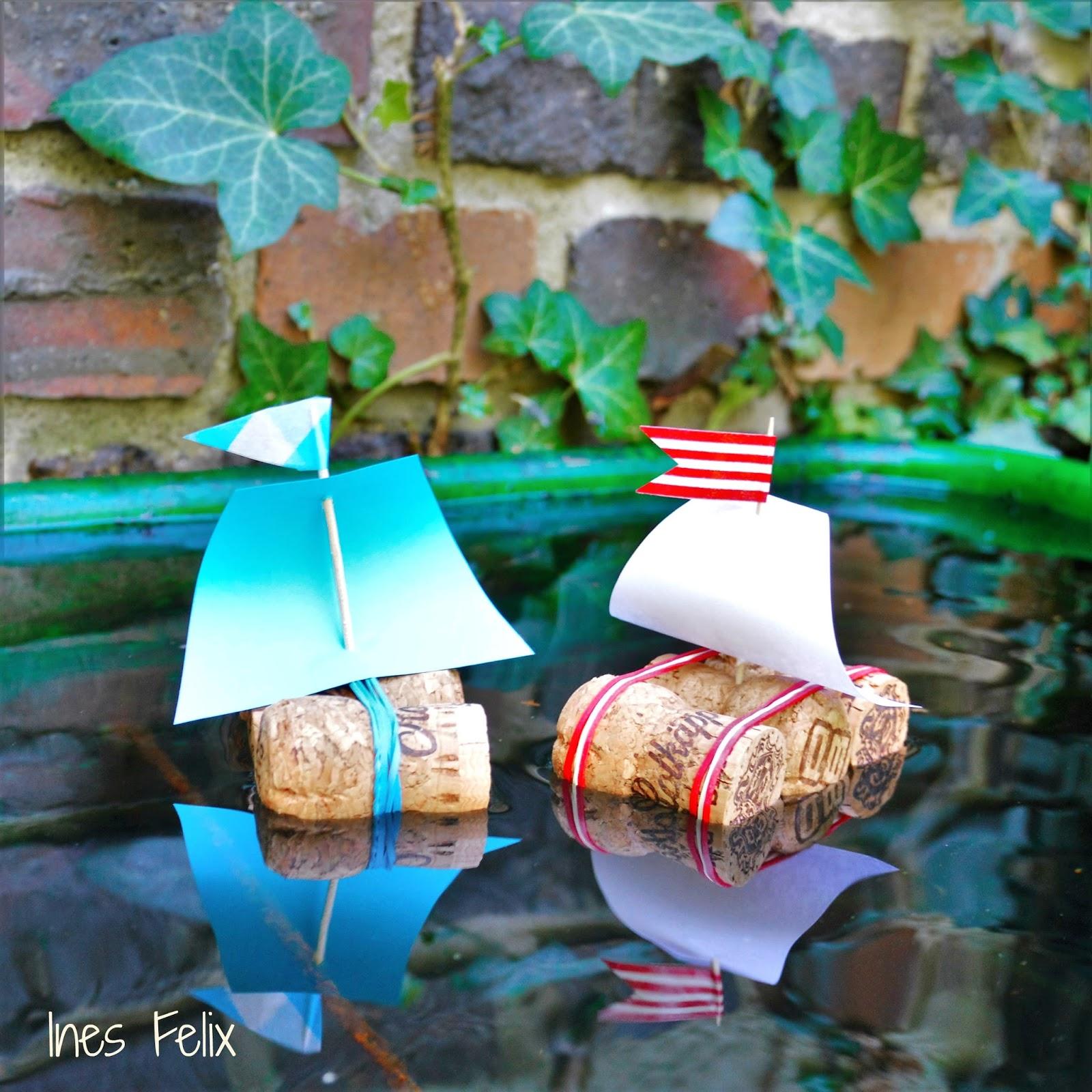 ines felix kreatives zum nachmachen ein schiff wird kommen korkschiff ahoi. Black Bedroom Furniture Sets. Home Design Ideas