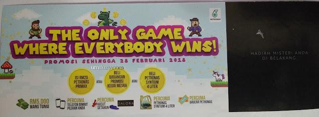 Petronas Ada Permainan Gores dan Menang ?