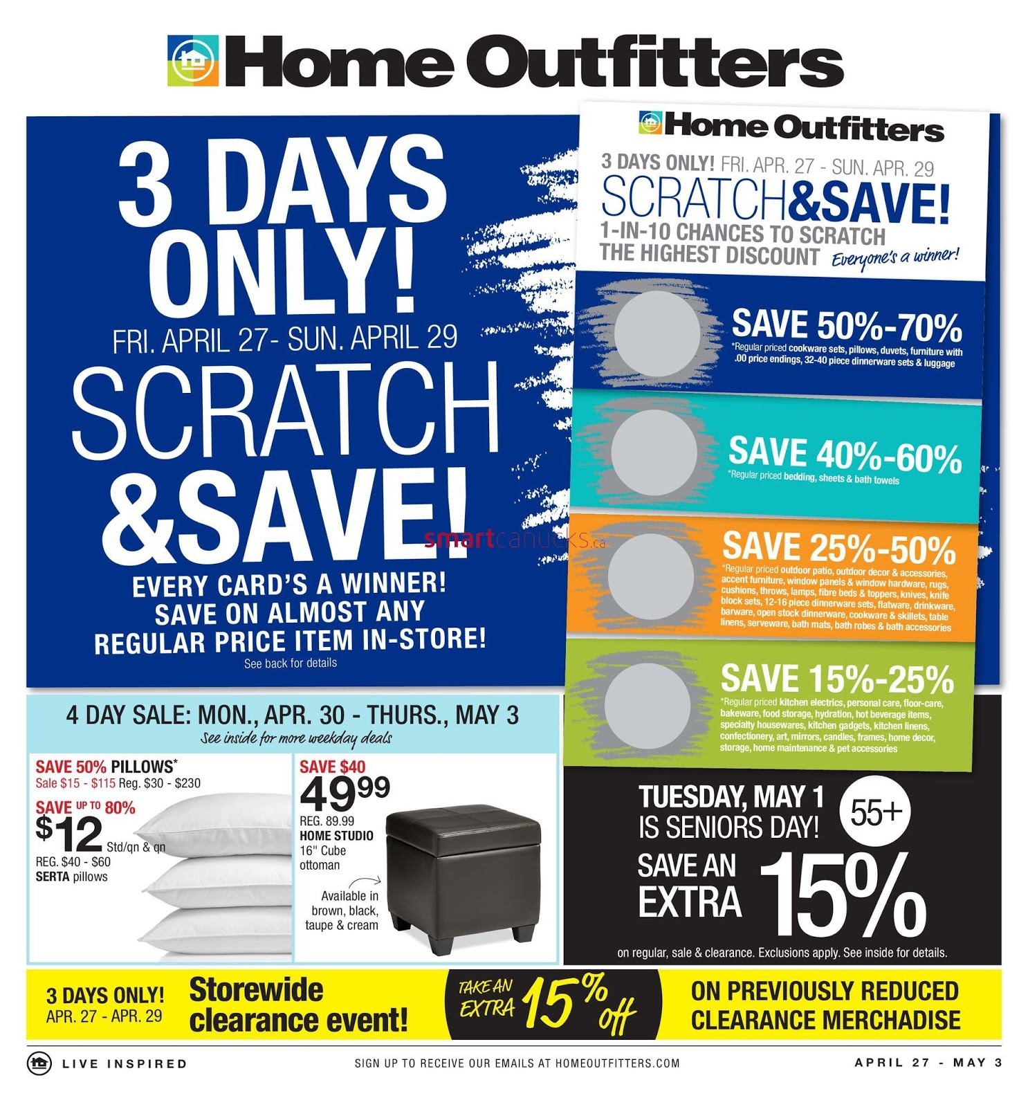 Home Outfitters Canada weekly Flyers April 27 - May 3 2018  sc 1 st  Weekly Flyers Ontario & Home Outfitters Canada weekly Flyers April 27 - May 3 2018 - Weekly ...