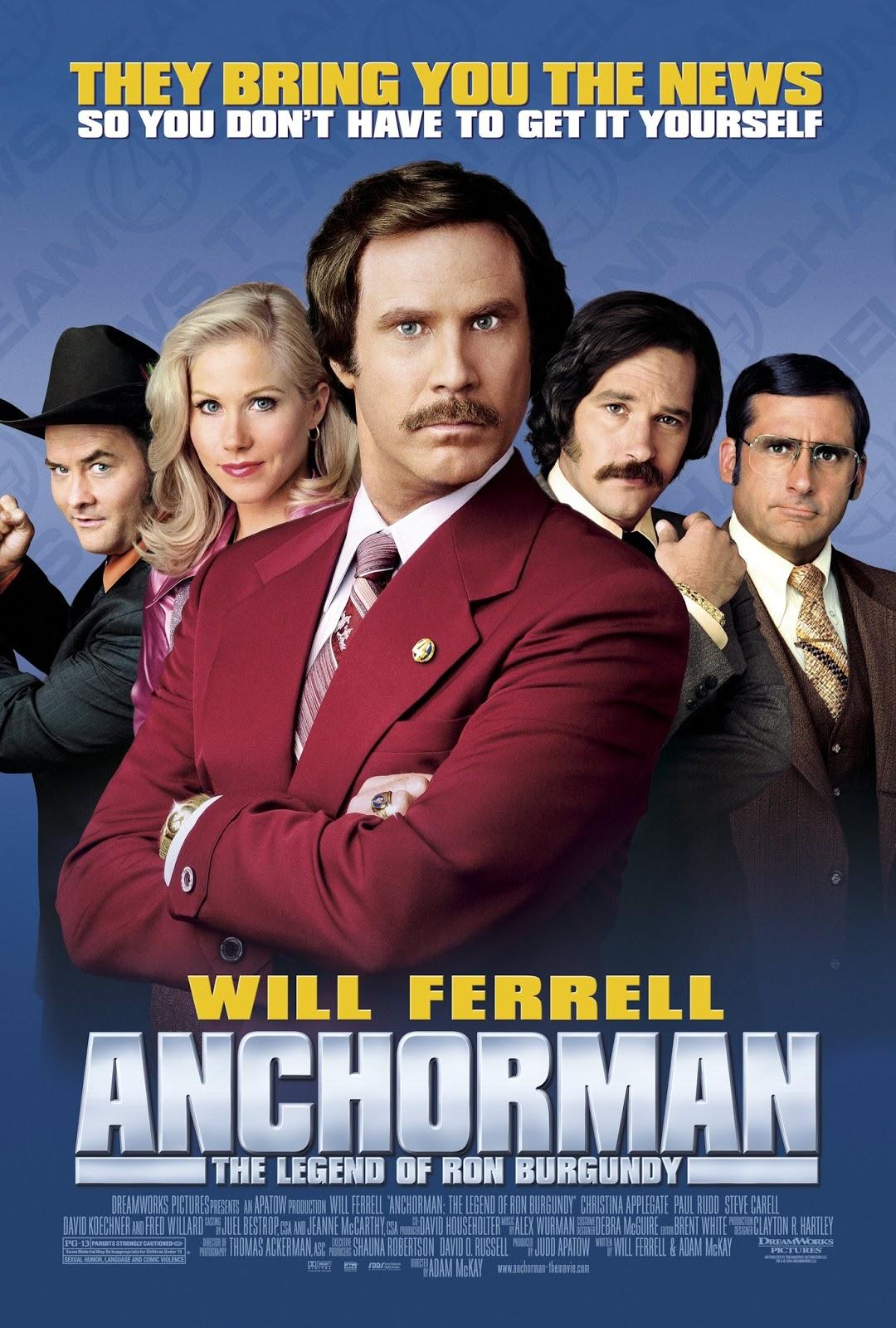 Anchorman: The Legend of Ron Burgundy (2004) ประกาศรบ … แต่ดั้นนมาพบรัก