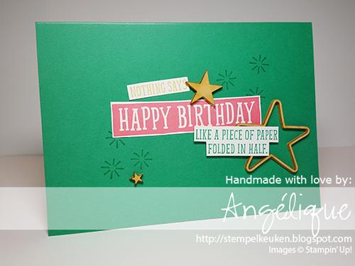 de Stempelkeuken uw Stampin'Up! producten koopt u bij de Stempelkeuken http://stempelkeuken.blogspot.com #stampinup #stampinupnl #stempelkeuken #verjaardag #birthday #happybirthday #emerald #groen #green #flirtyflamingo #verjaardagskaart #papercrafting #gefeliciteerd #denhaag #thehague #cardmaking #cadeautje #present #cadeau #handmade #handmadewithlove #basteln #papier #kaartenmaken #snailmail #postcrossing #happymail #birthdaygreeting
