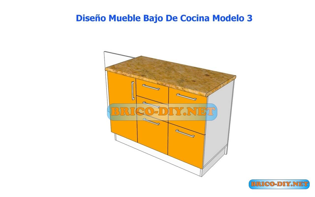 Dise os de muebles bajos de cocina en mdf madera y for Muebles de cocina 25 cm