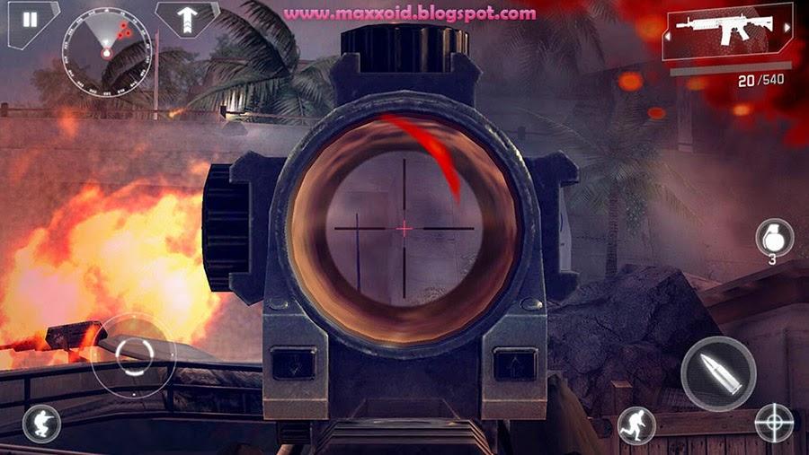 تحميل لعبة modern combat 4 للاندرويد كاملة