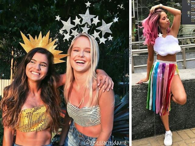fantasia arco-iris, sol- lua e estrelas