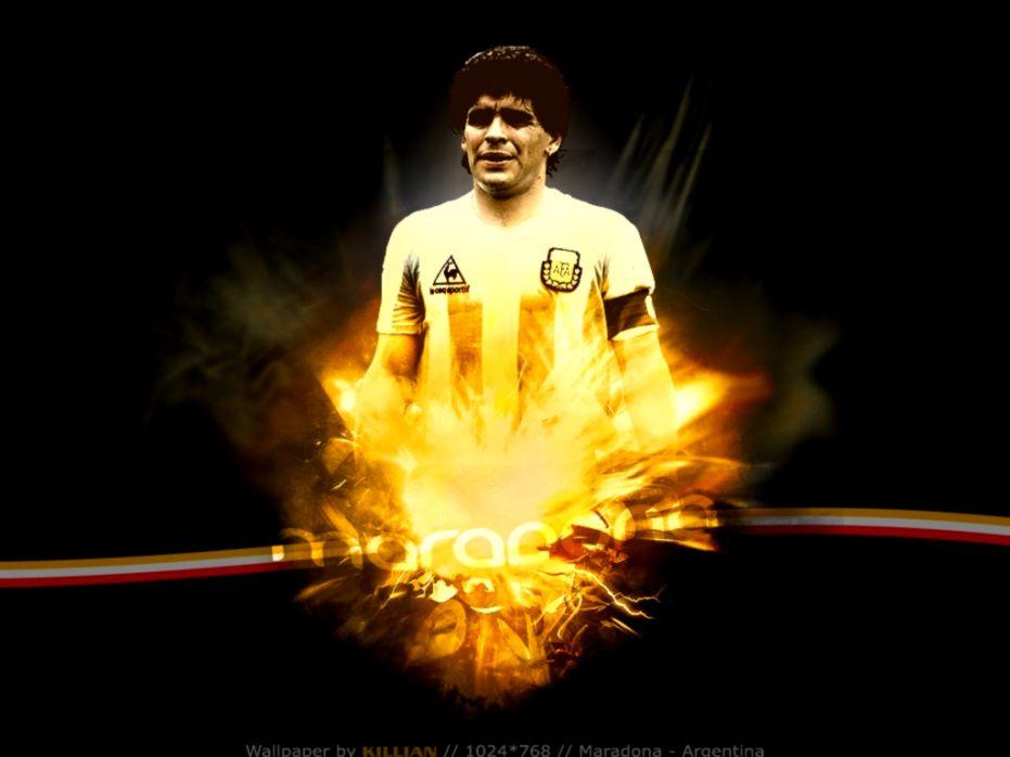 Argentina Maradona Hd Wallpaper Wallpapers Quality