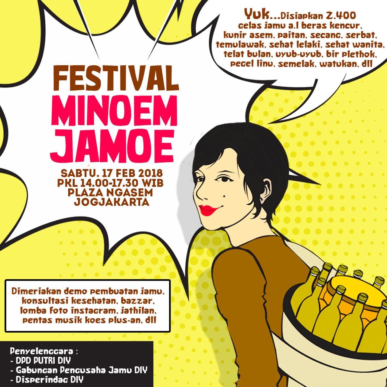 Festival Minum Jamu 2018 Bakal di Jogja dimeriahkan Sido Muncul dan Mikha Tambayong