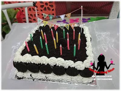 Meriahnya Ultah 18 Sarah di SMANIV Sidoarjo dengan kue tart Lavia