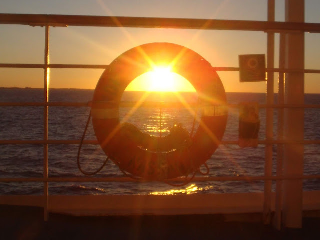 Life ring sunset