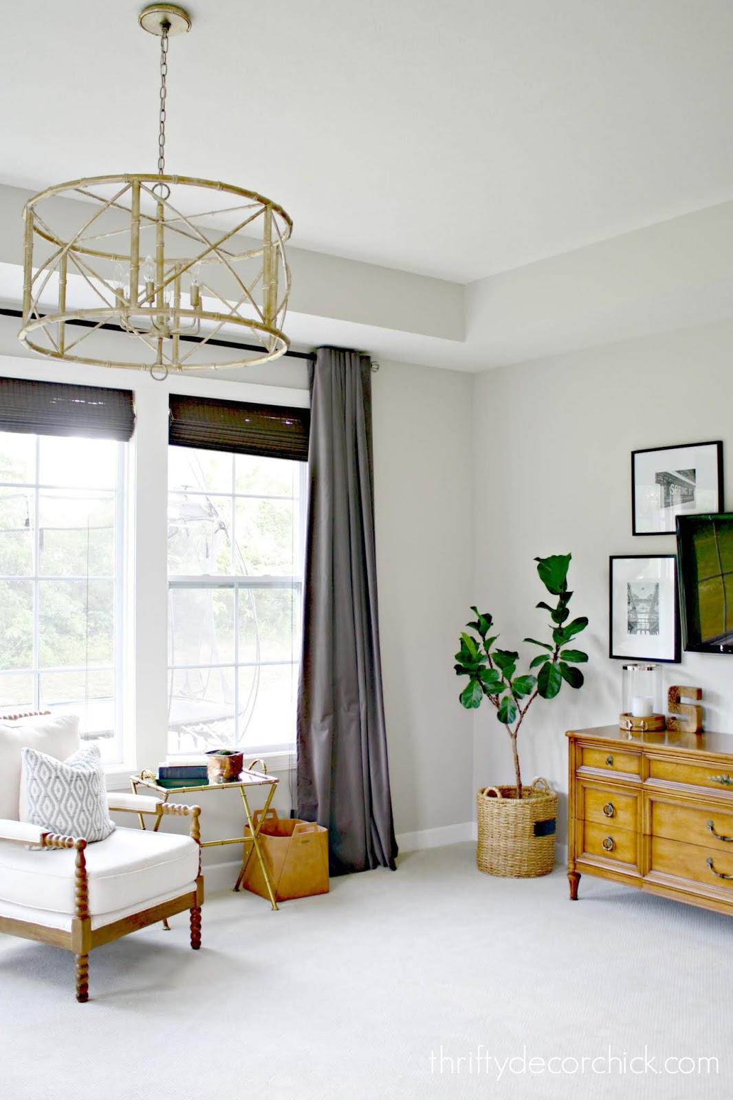 Bamboo chandelier Ballard Designs