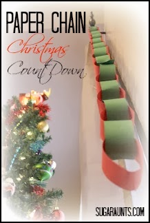 Paper Chain Christmas Countdown by Sugar Aunts