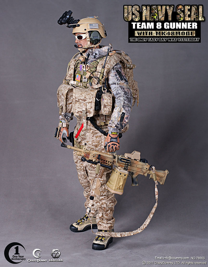 MY LOVE 4 TOYS: CrazyDummy 1/6 US NAVY SEAL TEAM 8 GUNNER