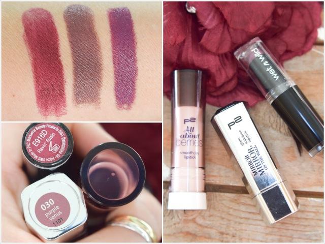 Rotweinlippen-Lippenstifte