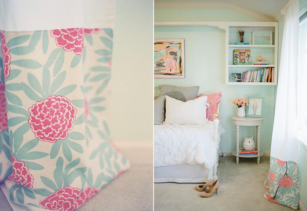Mint Peachy Pink My Bedroom Tour Reveal Michaela Noelle Designs