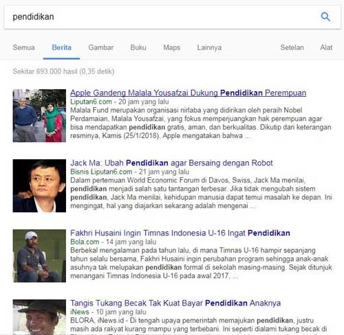 pencarian berita