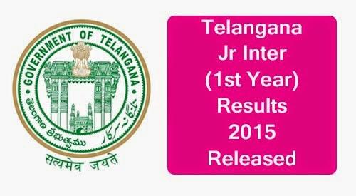 Telangana Inter First year TS Exam results 2015 Manabadi