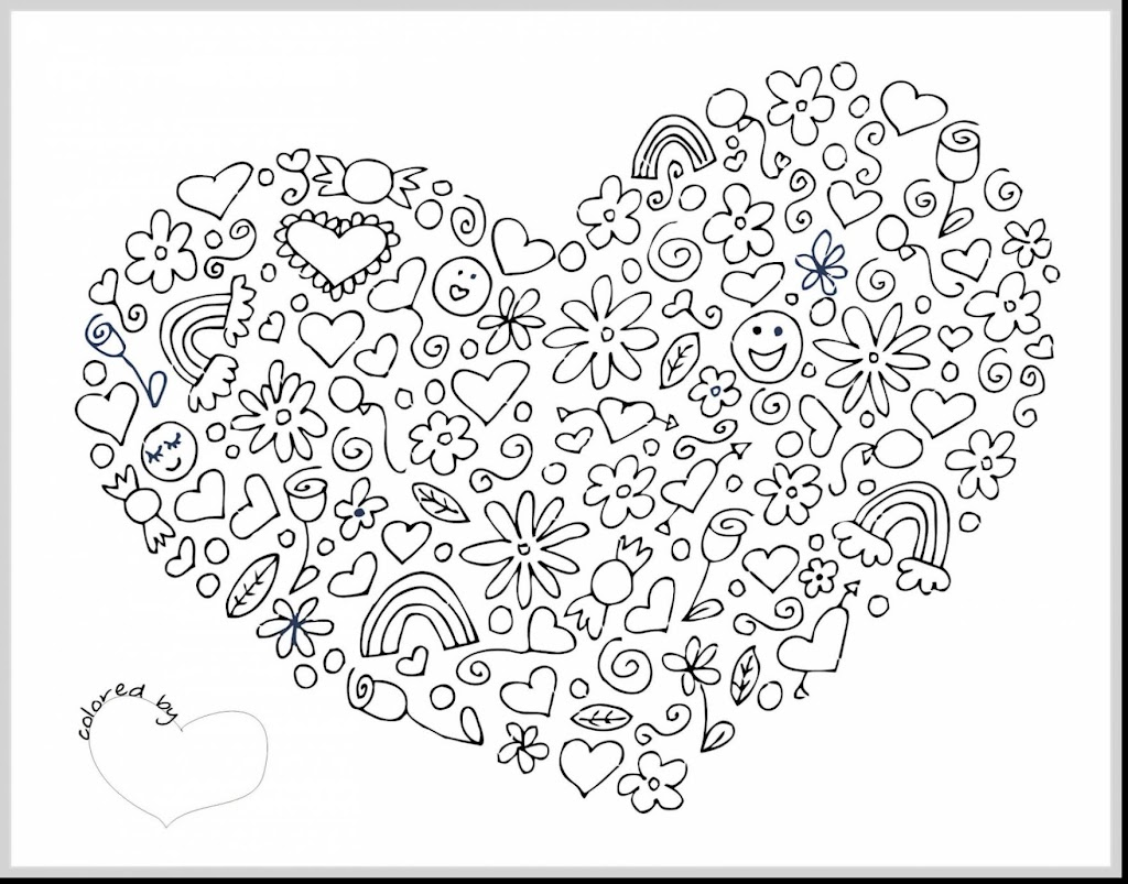 Best Free Valentine Coloring Pages For Adults Image
