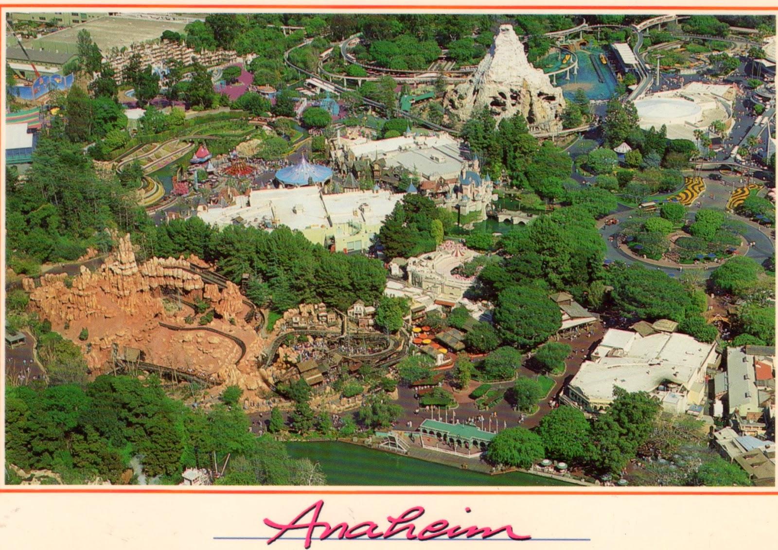 vista aérea da Disneyland