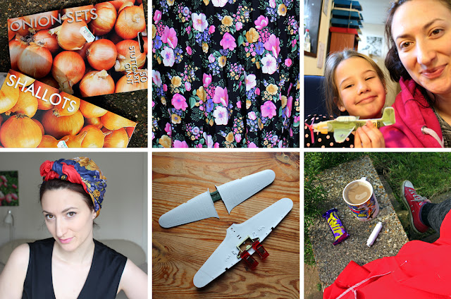 The Butterfly Balcony: Wendy's Week - Planting & Playing with Planes - Instagram Header Planting my first seeds // Floral fabulousness // Keira and Me //  Garden tidying turban time // Airfix beginnings // Sewing in the spring sunshine