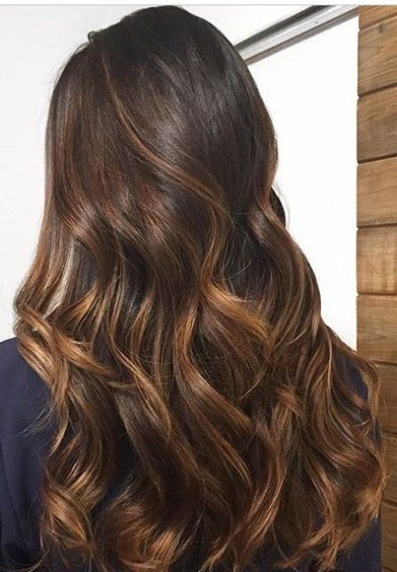 06 long dark brunette hair with caramel balayage