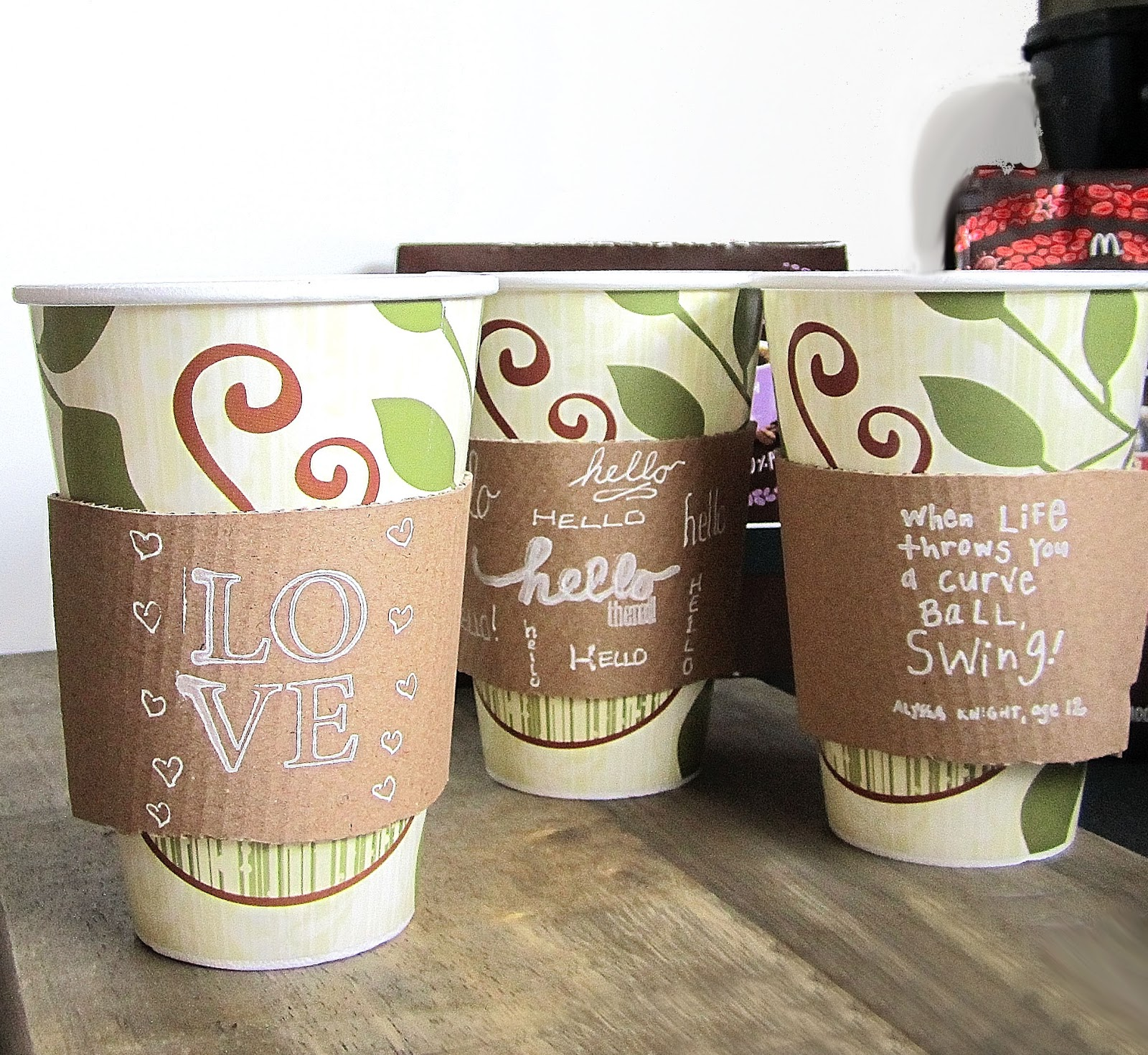 365 Designs New McCafe Single Brew Coffee With Printable Cup Sleeve Template