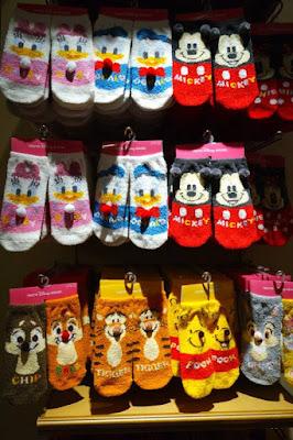 Disney Characters socks at Tokyo Disneysea Japan
