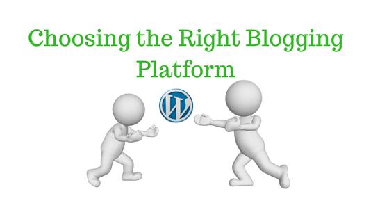 A guide on choosing a blogging platform