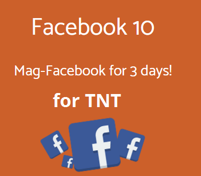TNT FACEBOOK10 Promo : 3 Days Access To Facebook for Only 10