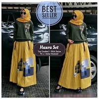 Jual Baju Busana Muslim Wanita Haura Set Top