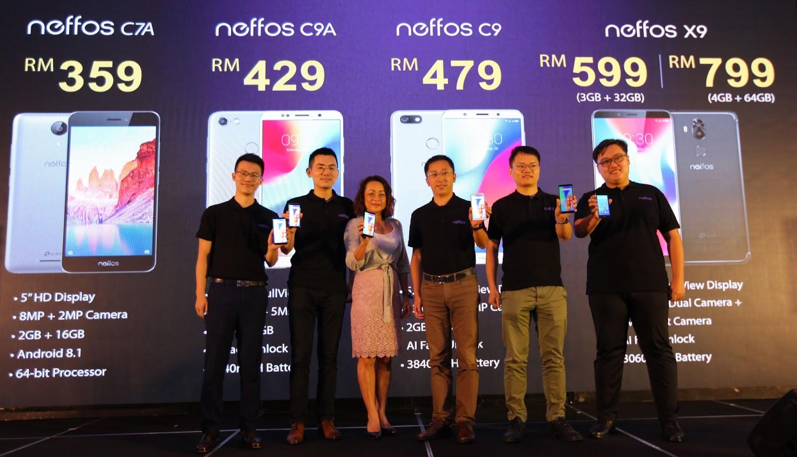 TP-Link & Neffos Melancarkan Smartphone Line-up Paparan Penuh dengan Teknologi AI Face-Unlocking Terbaru