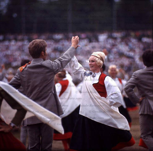 1970 год. Рига. Праздник песни и танца. Автор: Валерий Генде-Роте. © Наследники В.А. Генде-Роте