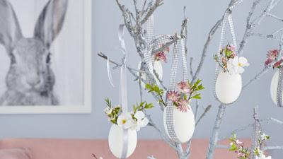 albero di pasqua con uova sospese tutorial