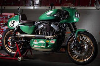 sportster roadster racing green with fairing by west flanders hd