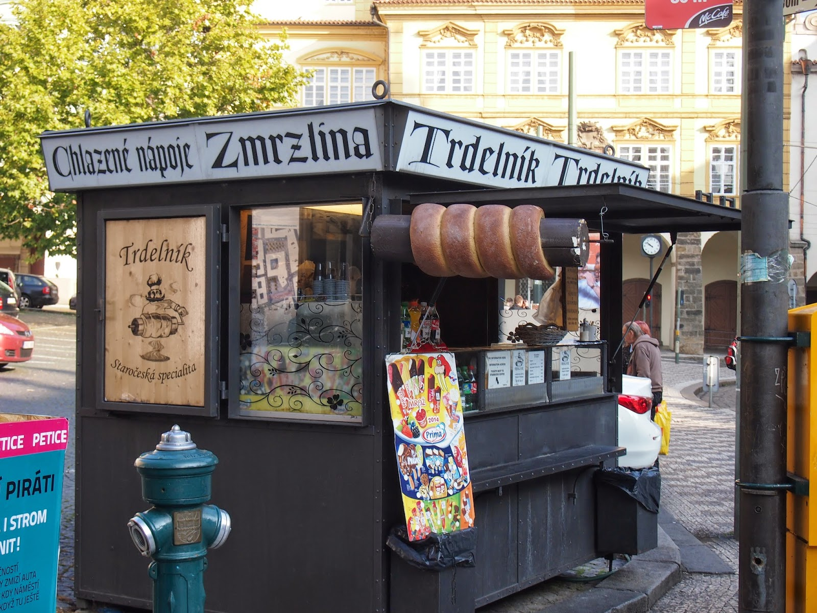 A Stand selling Trdelnik pastries in Prague